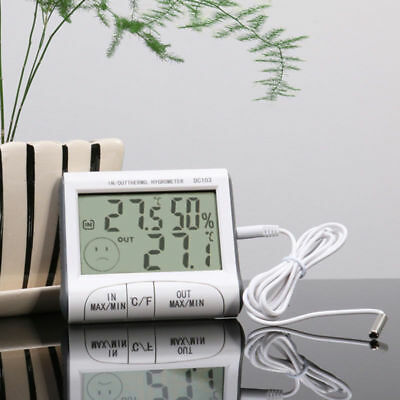 NEW Digital LCD Thermometer Humidity Meter Room Indoor Temperature Hygrometer US
