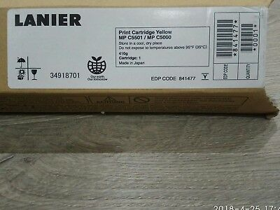 New Genuine  Lanier Yellow Cartridge for MP C3501 / MP C5000, Made in Japan