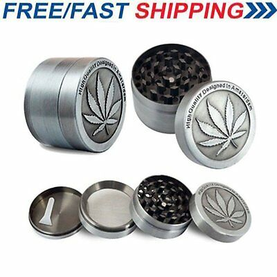 4-Layer Herb Grinder Spice Tobacco/Weed Smoke Zinc Alloy Crusher Leaf Design New