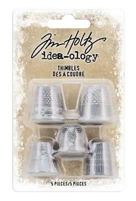 Tim Holtz Idea-Ology ~ Christmas THIMBLES ~ TH93772 Pack of 5