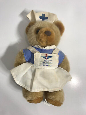 VINTAGE Royal Flying Doctor Service Of Australia Plush Nurse Teddy Bear 20CM