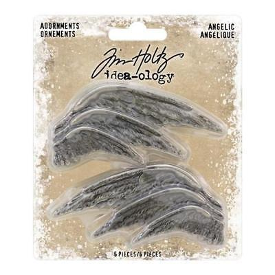 Tim Holtz Idea-Ology ~ Christmas ANGELIC Wings ~ Metal Adornments
