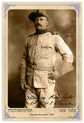 Roughrider Later President Theodore Roosevelt Photograph A+ Reprint Cabinet Card