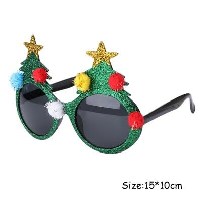 Christmas Novelty Sunglasses Xmas Tree Fancy Dress Party Fun Costume Glasses New