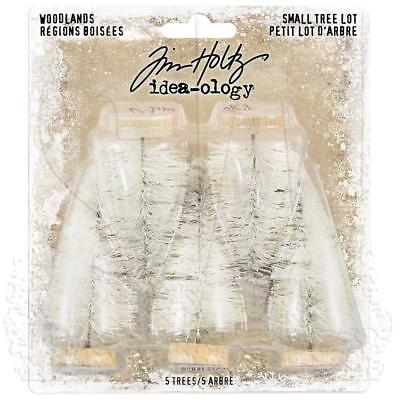 """Idea-Ology Tim Holtz ~ Woodlands Small Tree Lot ~ Natural 5 in pack Large 2.5"""""""