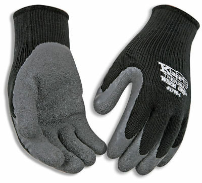 KINCO Thermal Lined Black Coated Work Gloves Size Large Construction Farm