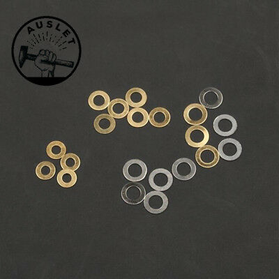Stainless Steel Brass Knife Washers - 10 Pieces
