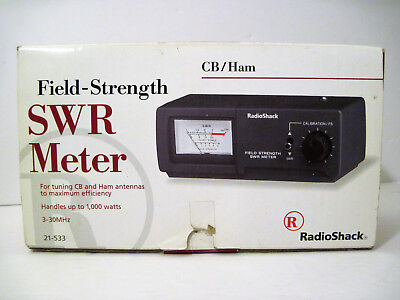 Radio Shack Field Strength SWR Meter Tuning CB & Ham Antennas NEW Complete w Box