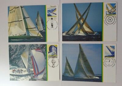 SET of  1987 America's Cup POSTCARDS X 4. XLNT COND. fast free post