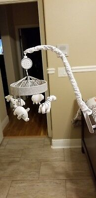 Crib Mobile Two by Two - Cloud Island™ - Gray Excellent Condition Musical