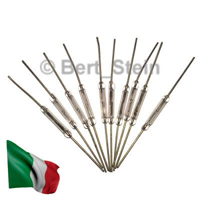 10x Reed Switches MKA-14103 Interruttori a lamelle ampolla di vetro 2x14mm N/O