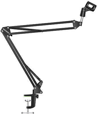 NEEWER Adjustable Microphone Suspension Boom Scissor Arm Stand, Compact Mic of