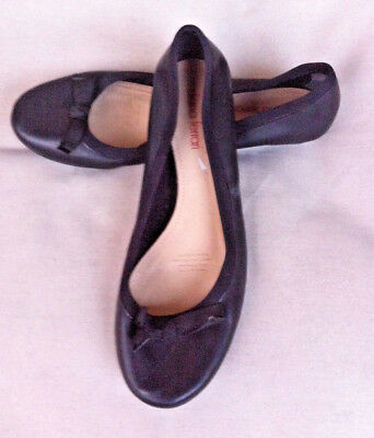 Diana Ferrari Black Leather Ballet Flats Size: 8.5 Gc
