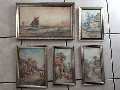 Watercolours circa late 19th/early 20th century Joyce Bunford; W Sands + 2others