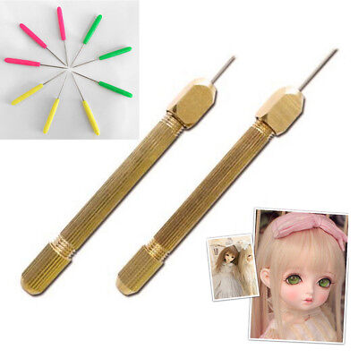 Doll Hair Rooting Reroot Rehair Tool Holder With 5 Extra Needles Set For Barbie