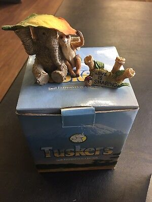 Tuskers Elephant Ornament Love Is....sharing
