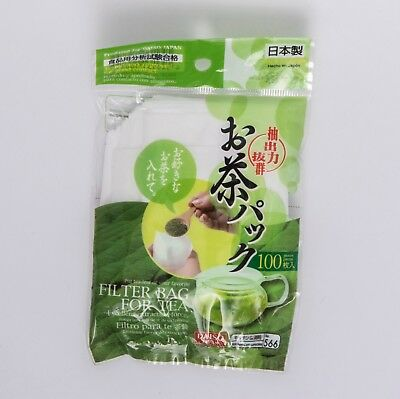 Daiso Japan Green Tea Pack Empty Tea Leaf Filter Compact Type 100 pcs