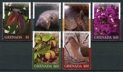 Grenada 2018 MNH Fauna & Flora Definitives 6v Set Birds Flowers Animals Stamps