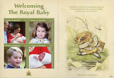 Antigua & Barbuda 2018 MNH Prince Louis Royal Baby William 4v M/S Royalty Stamps