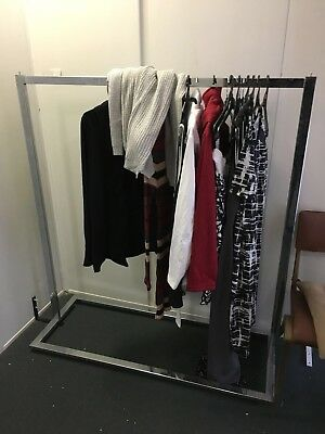 As New Stainless Steel cloth hanger rack