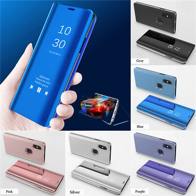 For Xiaomi Redmi Note8 7 6 5 Pro Mirror Flip Case Leather View Stand Smart Cover