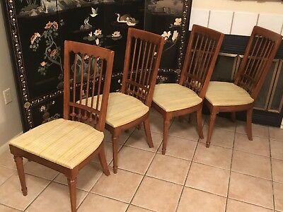 Mid Century Modern Drexel Heritage Dining Room Table Chairs Furniture  Esperanto