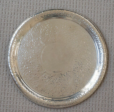 Silver serving tray -Large -Heavy