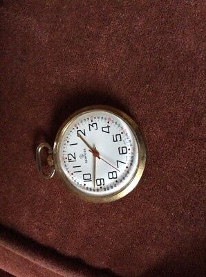 Vintage Services Wind Up Pocket Watch Full Working Order Swiss Made