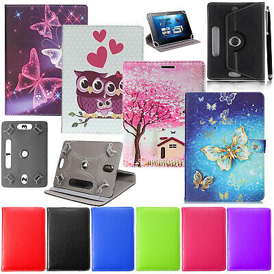 Acer Iconia One 10 Inch Tablet - 360° Rotating PU Leather Flip Stand Case Cover