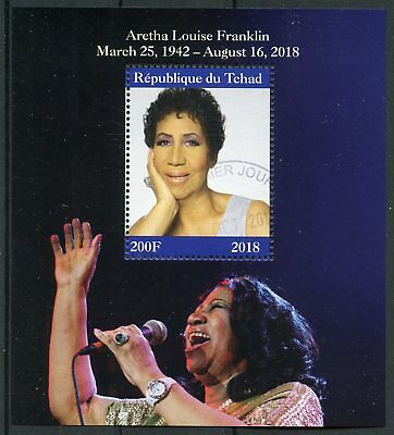 Chad 2018 CTO Aretha Louise Franklin 1v M/S Music Celebrities People Stamps