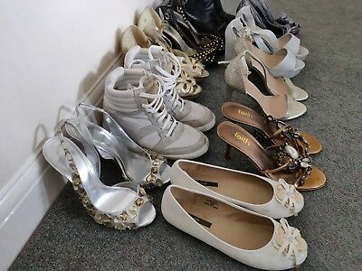 Job Lot Of Ladies Shoes Size 5  Faith, New look, River Island & various Others