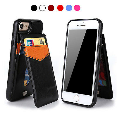 AUS Magnetic Leather Pocket Case Cover For Samsung S7 Edge S8 S9 Plus Note 8