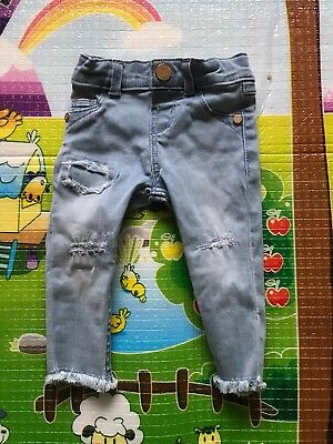 Girls River Island Mini Jeans Age 3-6 Months