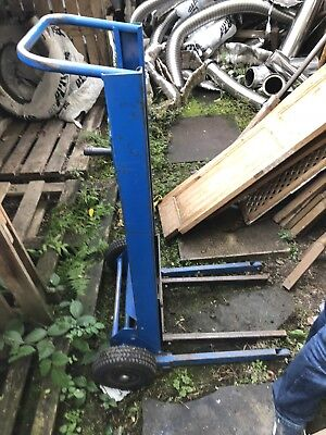 Stacker trolley with braked non slip winch