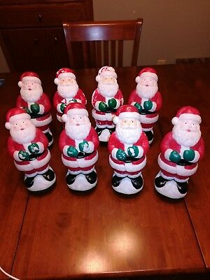 empire vintage christmas blow mold light toppers lot of 8 read desc - Christmas Blow Mold