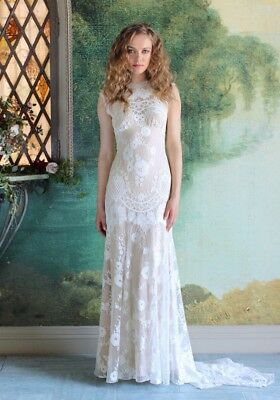 Claire Pettibone Cheyenne Wedding Dress Label size 10 (US 4)