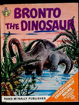 BRONTO THE DINOSAUR ~Vintage 1960's children's Rand McNally Elf Book