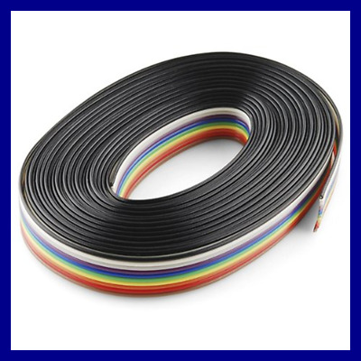 Ribbon Cable 10 Wire 15Ft FREE SHIPPING Computer Add On