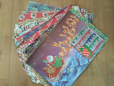 Vintage christmas wrapping paper 170+ Sheets Massive Lot