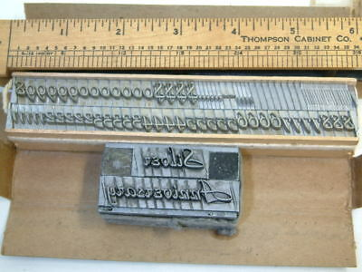 New 36pt Park Avenue Letterpress Type ATF#577 figure font & w/ used letter sorts