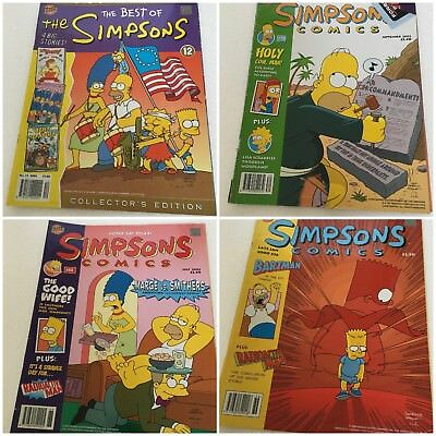 Vintage (2000/02/04)  4 Editions Simpsons Graphic Comics #12/36/68/70/