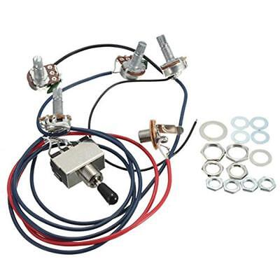 LP Electric Guitar Wiring Harness Kit Replacement, 2T2V 3 Way Toggle Switch 500K