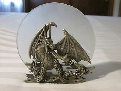 Pewter Dragon Candle Holder