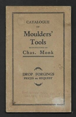 Geneva IL Monk Tool Co Catalogue of Moulders' Tools (16 Pages)  *RR19