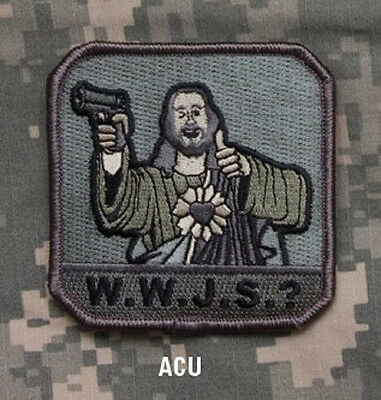 W.w.j.s.? - Acu - Black Ops Tactical Badge Morale Military Patch