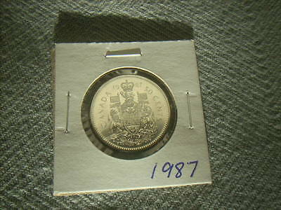 Canada 50 Cent Piece - 1987 - Low Mintage Year!