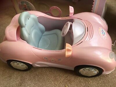 Baby Born Battery Operated Pink Sports doll Car With Lights And Sounds