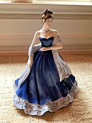 """COALPORT CHINA FIGURINE, The Gem Collection """"Sapphire"""", GORGEOUS and STUNNING"""