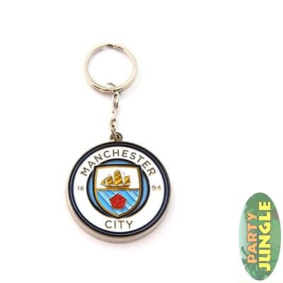 Manchester City Crest Keyring Official Licensed Football Novelty Gift Accessory