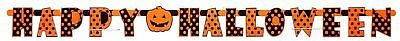 👻2 X HAPPY HALLOWEEN BANNERS Bunting Garland Party Prop Orange Black Pumpkin👻